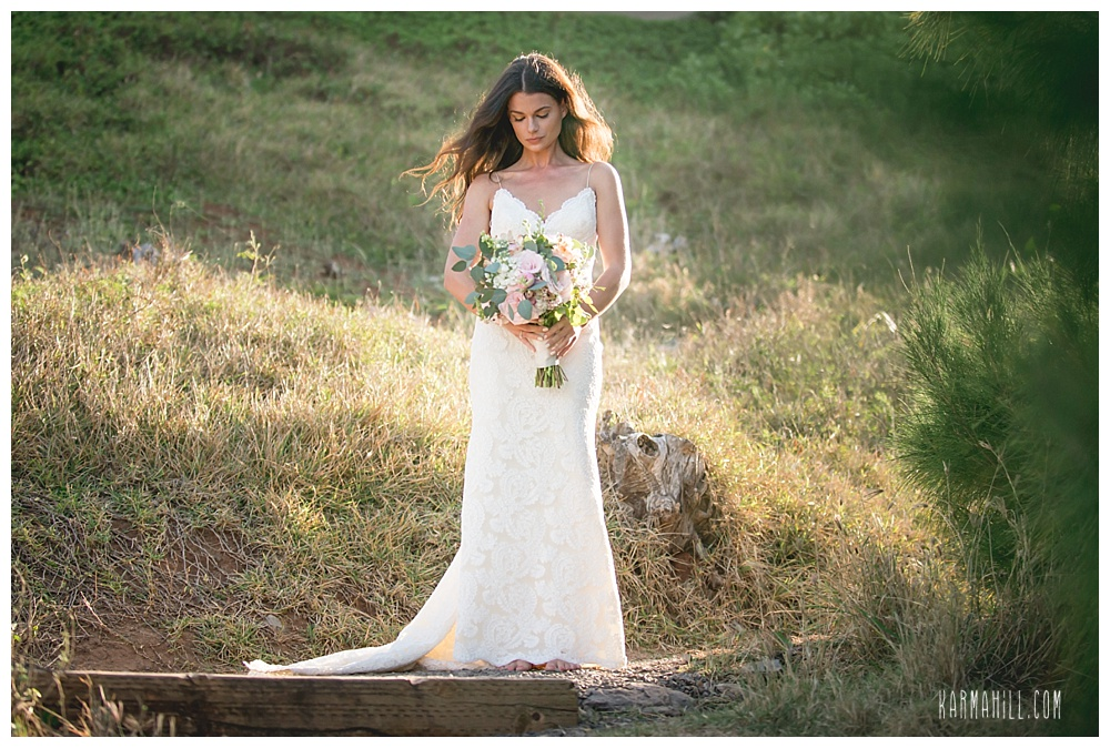 Maui Elopement of bride before first look